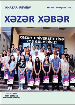 Xəzər Xəbər – Sentyabr 2017